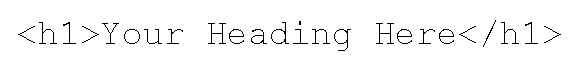 H1 heading tag code