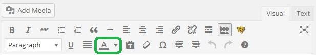 Text color tool WordPress